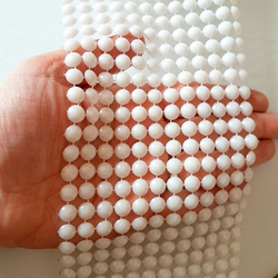 White FlatBack Pearl Lattice Trim, Bridal Trim, Wedding Trim For Bridal, Approx.