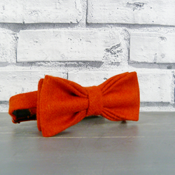 Yorkshire Tweed Bow Tie - Burnt Orange Twill