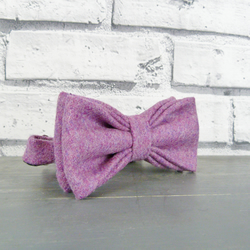 Yorkshire Tweed Bow Tie - Dusky Pink Twill