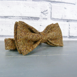 Mens Bow Tie - Brown Birdseye Tweed