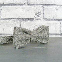 Boys Bow Tie - Grey Yorkshire Twill Tweed