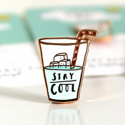 Stay Cool Luxury Enamel Pin Badge