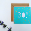 Papercut 30th Birthday Card - card with envelope