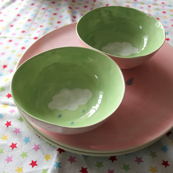 Pastel Rain Cloud Cereal Bowl