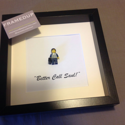 BREAKING BAD - BETER CALL SAUL - FRAMED CUSTOM LEGO MINIFIGURE