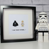 I AM YOUR FATHER - DARTH AND LUKE FRAMED LEGO FIGURES