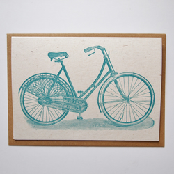Bicycle letterpress card