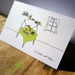 Cup of tea card (anonymity range)