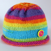 Knitted Rainbow Hat