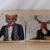 Marble 'Fox & Stag' Coasters
