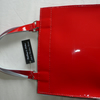 Patent Red Leather Tote