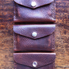 Lovely brown leather minimalist front pocket wallet