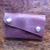 Brown leather minimalist front picket wallet