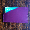 Maroon leather slimline front pocket wallet