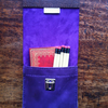 Rich royal purple slimline leather pencil case