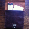 Slimline Leather pencil notebook case