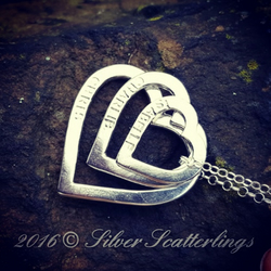 Personalised, handmade sterling silver heart necklace