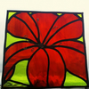 Sunburst Lily Stained Glass Panel
