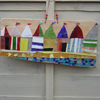 Recycled Stained Glass Moasic Beach Huts