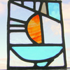 Sail Boat Stained Glass Panel