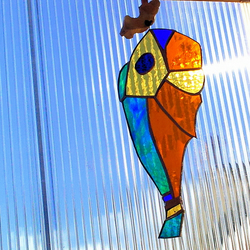 Stained Glass Art Deco Fish