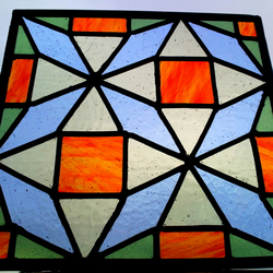 Moroccan Stained Glass Panel