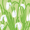 Snowdrops - Original limited edition linocut print