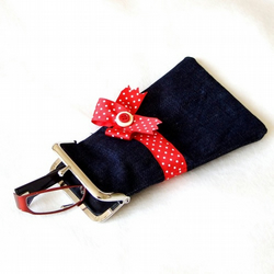 Denim Glasses case