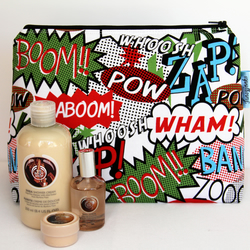 Wham! Zap! Comic Fabric Large Wash Bag. Great Gift For All Ages