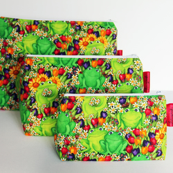Cute Floral Frogs Large Wash Bag. Great Gift For Girls. Sleepover Bag