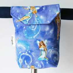 Pretty Lilac Fairies Micro Scooter or bicycle bag. Great gift for Girls