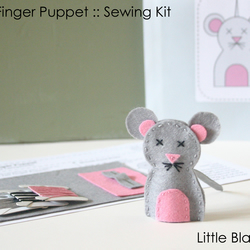 KIT: Mouse Felt Finger Puppets