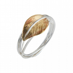 Brass Leaf wrap ring