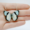 Alicia Miniature Wooden Butterfly Necklace