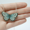 Zooey Miniature Wooden Butterfly Necklace