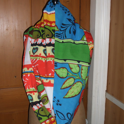 Handmade, Large Infinity Scarf Made in Bright, Indian Fabric