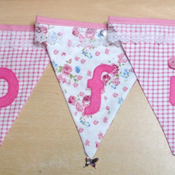 Personalised Hand-made Beautiful Bunting from SCOTLAND
