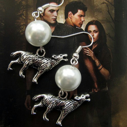 New Moon Inspired Wolf Earrings