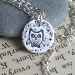 PMC Silver Jewellery - Owl Necklace - Handmade Silver Jewellery