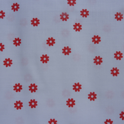 Vintage Mary Quant Red Flowers Fabric –1970's Fat Quarter