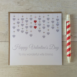 Personalised Valentine's Day Card - Husband, Wife, Girlfriend, Boyfriend (LB120)