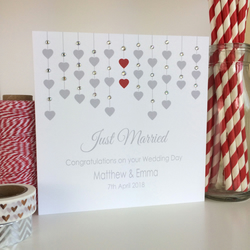 Personalised Wedding Card - Just Married (LB013)