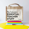 Personalised Teacher Essentials Jute Bag