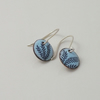 Pale blue enamelled earrings