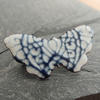 Butterfly enamelled brooch