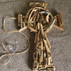 Driftwood Celtic Cross wallhanging decoration made from Cornish driftwood