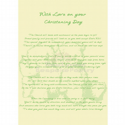 Baby Twins Christening Day Poem Gift New Baby Poetry Nursery Art Print A4 Poster