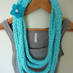 Jersey Finger Knit Infinity Scarf