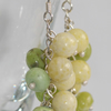 Butter jade and Chrysotine cluster earrings