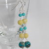 Butter Jade, Jasper and Turquoise earrings